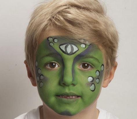 maquilaje de extraterrestre para niño