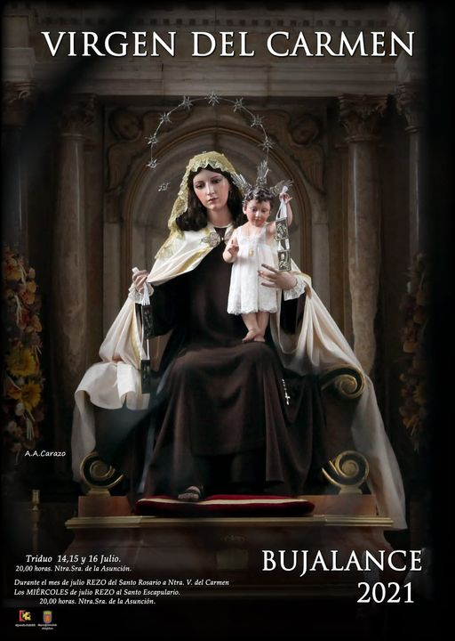 Cartel Stma.Virgen del Carmen 2021 de Bujalance (Córdoba)