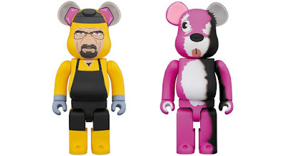 Breaking Bad Walter White & Pink Bear Be@rbrick Vinyl Figures by Medicom Toy
