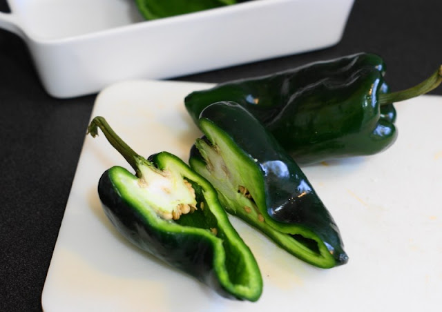 Halved Poblano Peppers Image