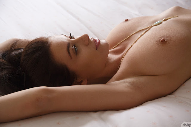 Lana Rhoades naked on bed