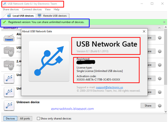 USB Network Gate.v8.1.2013 Full Unlimited License With Activator [Updated -07/2019]