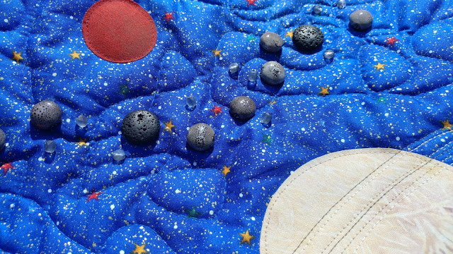 Solar system quilt with asteroids