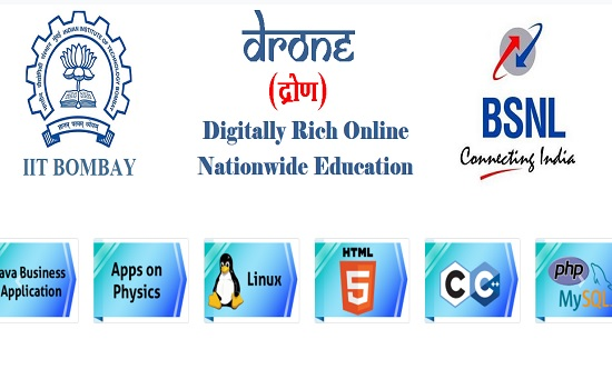 BSNL launched online education initiative DRONE in association with IIT Bombay and M/s Yupp Master