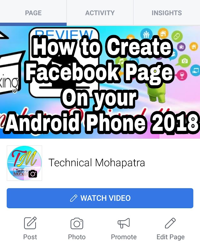 Apne Android Phone me Facebook page kaise banaye 2018 .
