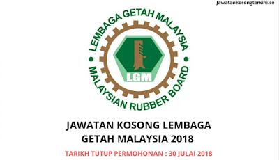 Jawatan Kosong Lembaga Getah Malaysia (LGM) 2018