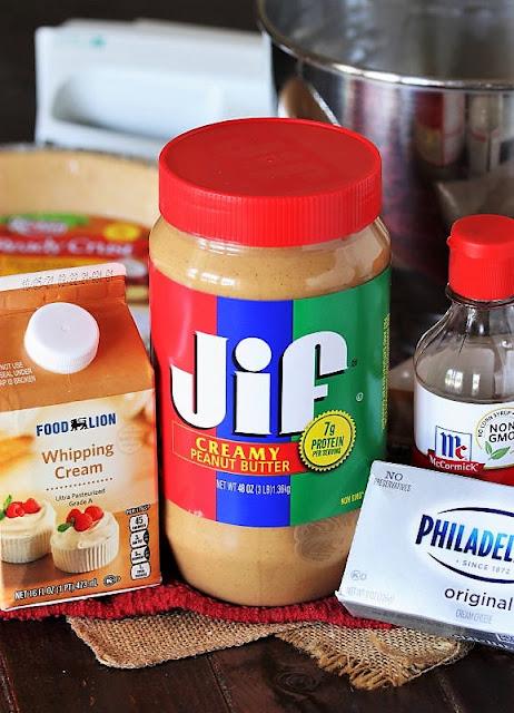 Fluffy No-Bake Peanut Butter Pie Ingredients Image