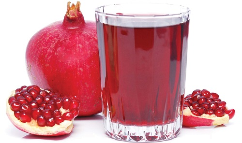 Method of action of pomegranate juice