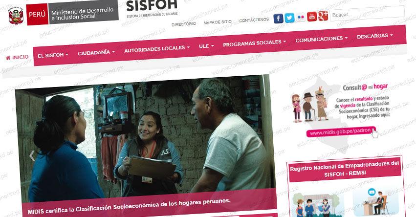 SISFOH: Sistema de Focalización de Hogares 2021 - www.sisfoh.gob.pe