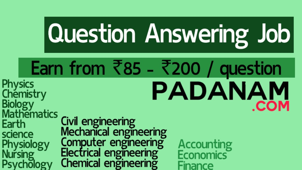 Rs 12   Rs 12 / Question   Unlimited answering   Work from Home ...