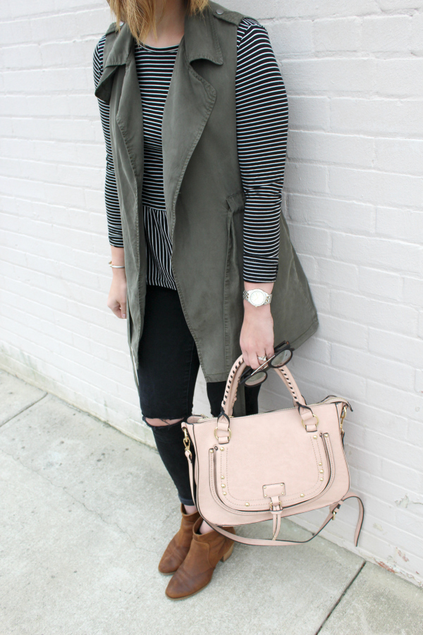 spring style, mom style, style on a budget, utility vest