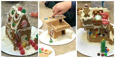 Gingerbread houses for kids, graham cracker houses