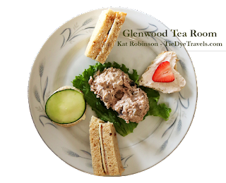Afternoon Experience plate at Glenwood Tea Room in Shreveport, Louisiana