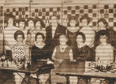 Ajedrecistas participantes en el IX Campeonato de España Femenino 1965