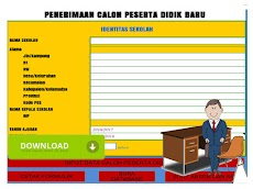 Aplikasi Cetak PPDB Format Excel