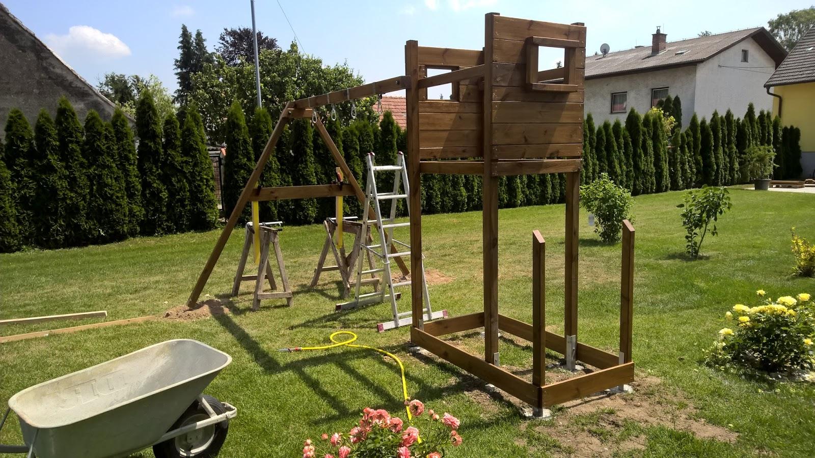 Klettergerüst Holz Streichen : Holz und metall ein heimwerkerblog: kinderschaukel richtig aufstellen