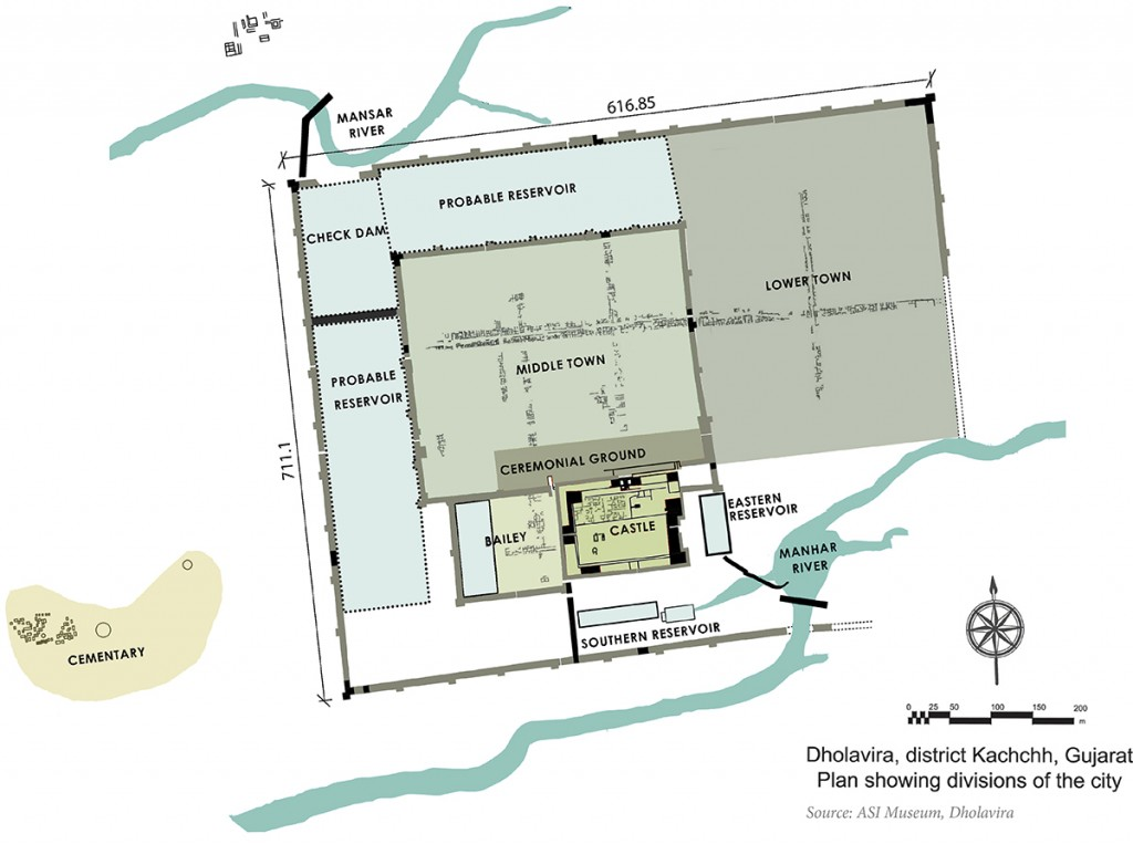 Layout of Dholavira excavated site