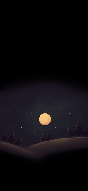The moon wallpaper AMOLED
