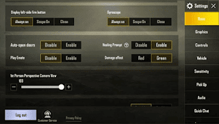 Pengaturan Basic PUBGM Android