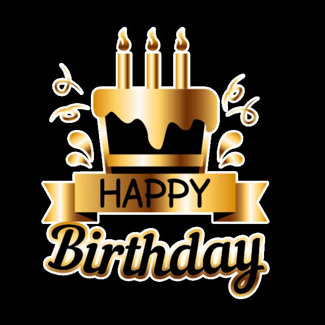 Happy Birthday png cake design
