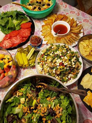 Party food, pasta salad, greek pasta salad