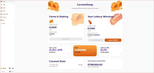 مشروع caramelswap في بدايته يسير على خُطى PancakeSwap