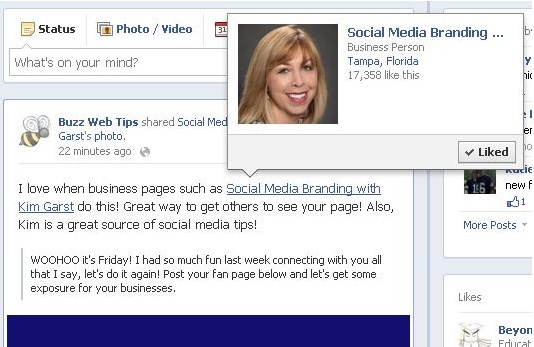 how to tag a business page on facebook mobile