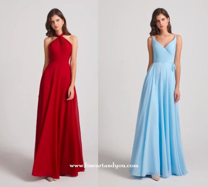 Top 5 cheap chiffon bridesmaid dresses from Alfabridal