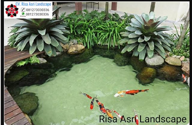 Harga Jasa Pembuatan Taman Air Terjun Di Gresik. Spesialis Tukang Kolam Ikan Koi Minimalis Gresik