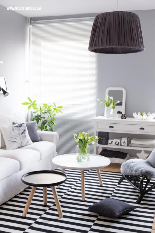 Wohnzimmer Deko im Frühling mit be&liv Petals Obstschale #wohnzimme r#livingroom #tinekhome #beandliv #normanncopenhagen
