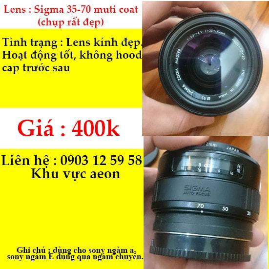 Lens sigma 35-70 master