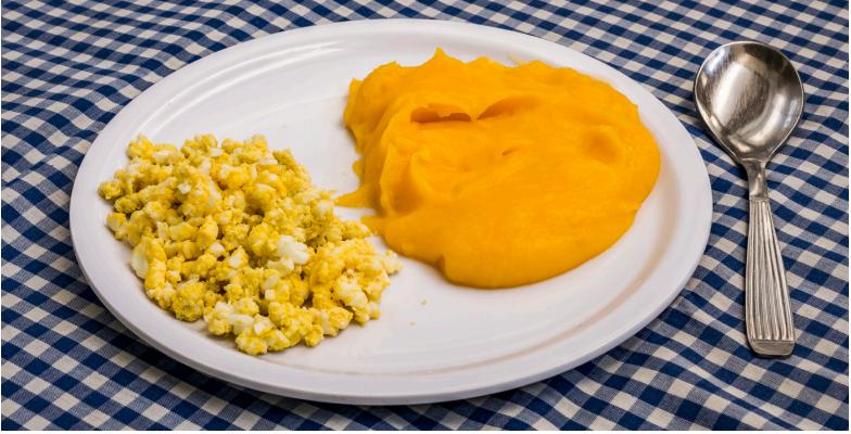 Papilla con Huevo receta para bebes