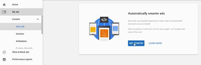 google auto ads setup