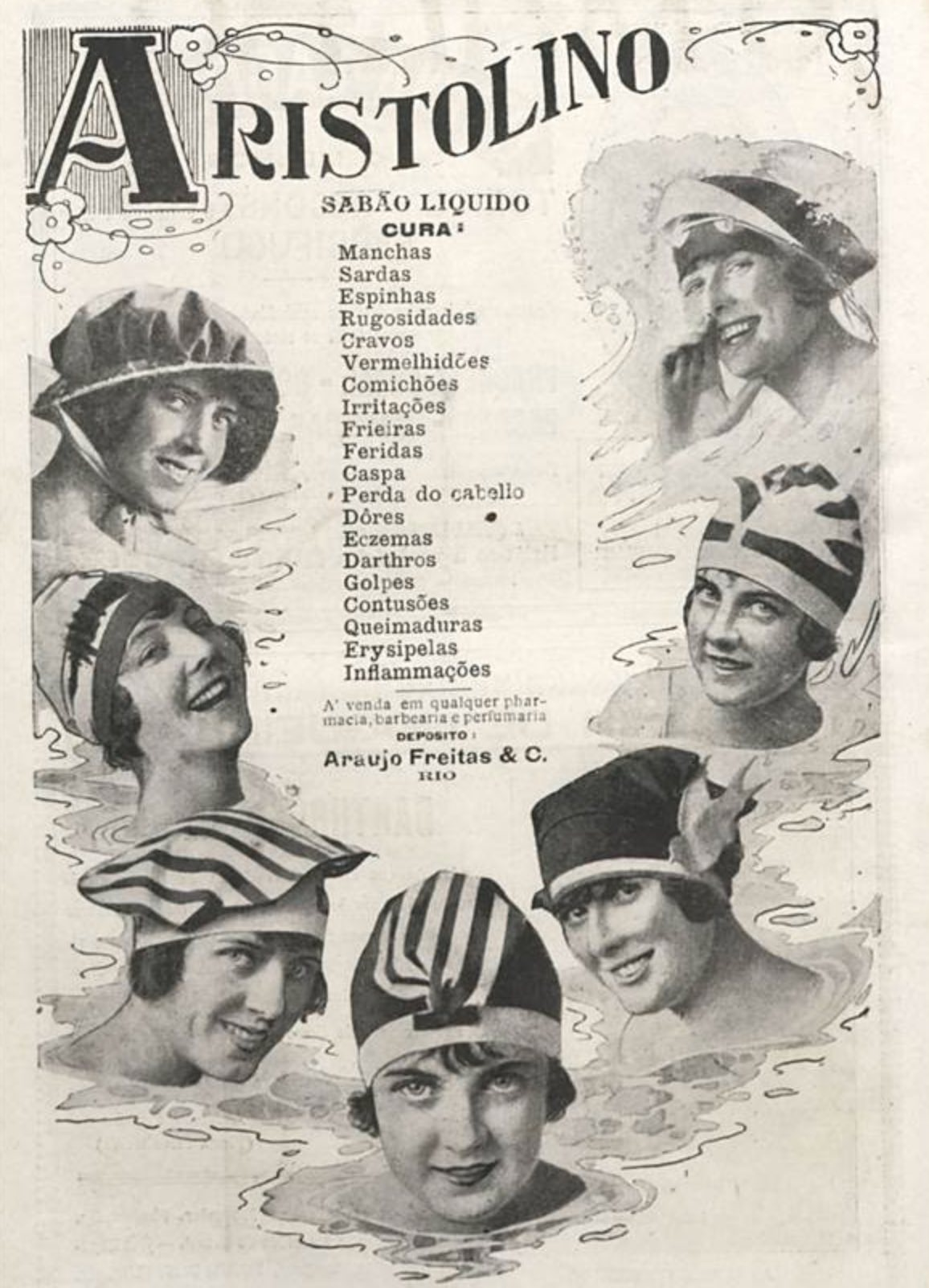 Anúncio antigo do Sabão Aristolino veiculado em 1918