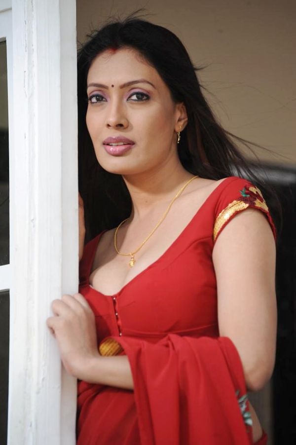 Surabhi Looking Hot In Red Saree