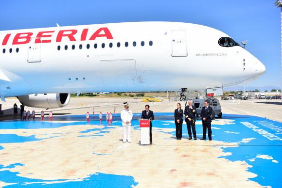 Juan Sebastián Elcano, el nuevo A350 de Iberia
