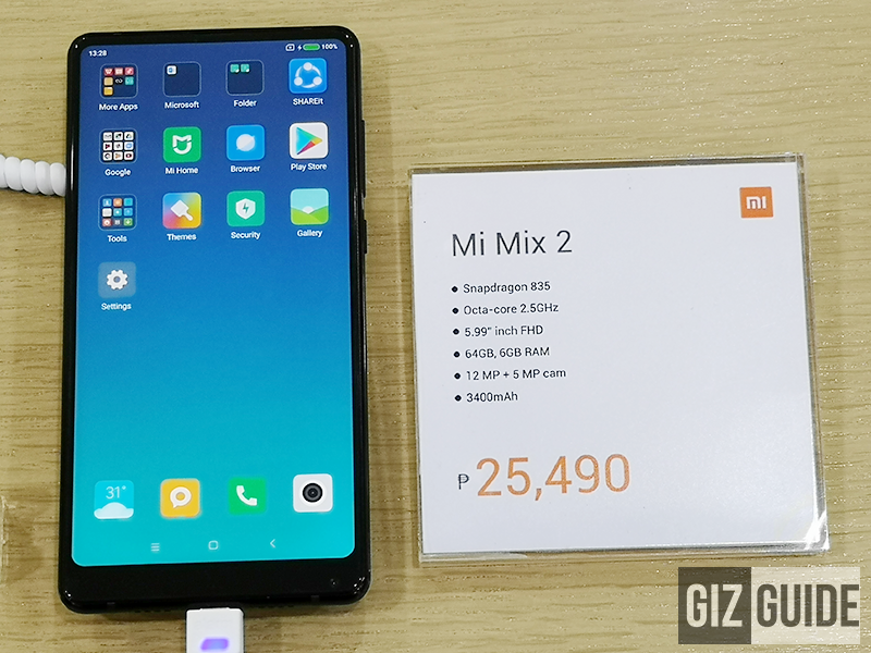 Xiaomi Mi MIX 2 now available in PH for PHP 25,490