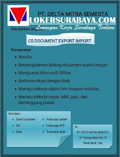 Peluang Kerja Terbaru di PT. Delta Mitra Semesta Surabaya Juni 2019