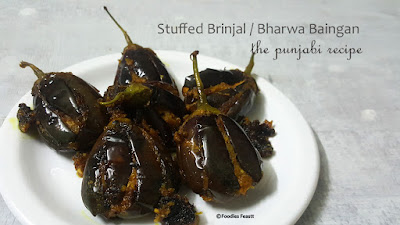Stuffed Brinjal / Bharwa Baingan - The Punjabi Recipe