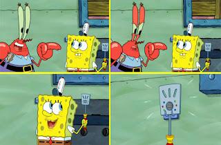 Polosan meme spongebob dan patrick 102 - spatula premium spongebob