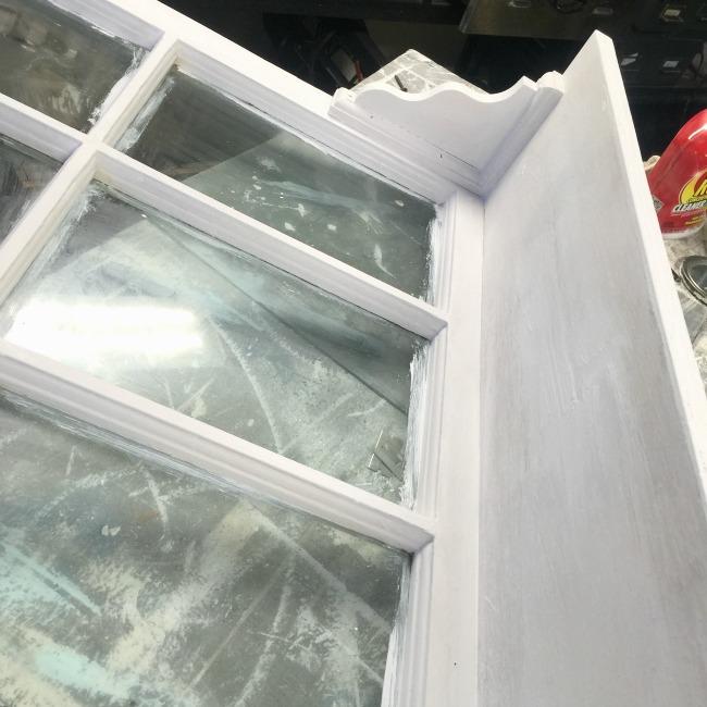 shelf added to bottom of window