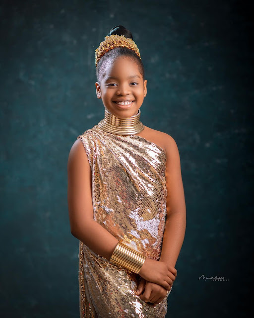 Thank you for making it so easy to be proud of you- Comedian Basketmouth says as he celebrates his daughter 10th birthday (Photos)