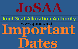 JoSAA 2017 Important dates