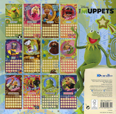The Muppets 2019 Calendar Back
