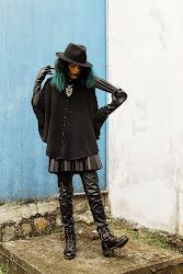 modern witch costume halloween hat rebel