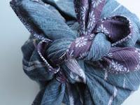Furoshiki bleu