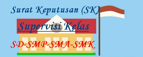 SK Supervisi Kelas SD SMP SMA SMK SK Supervisi Saat Ini