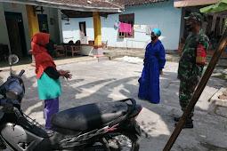 Babinsa Karangdowo Dampingi Tracing Bidan Desa