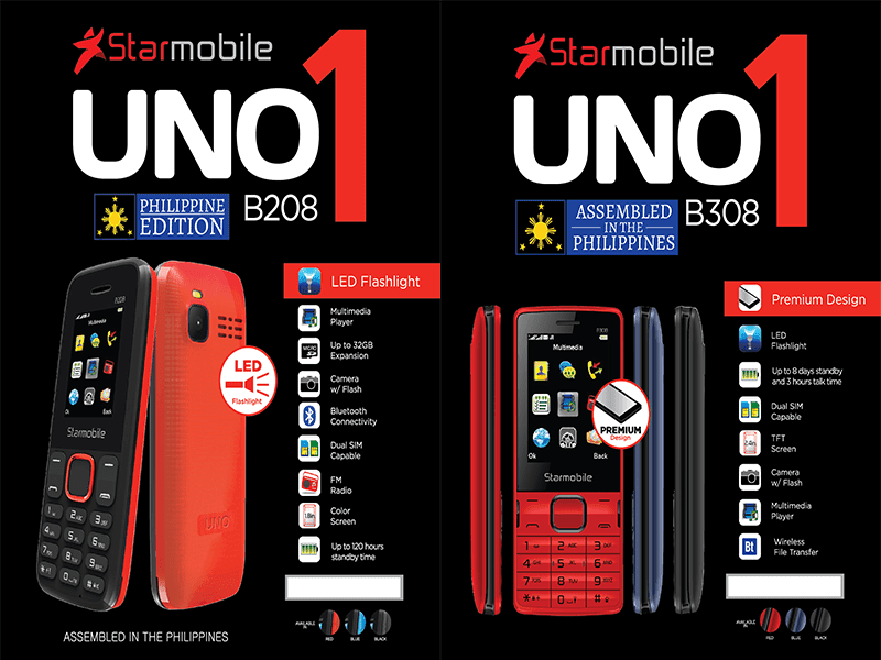 Starmobile launches the locally assembled UNO B208 and B308