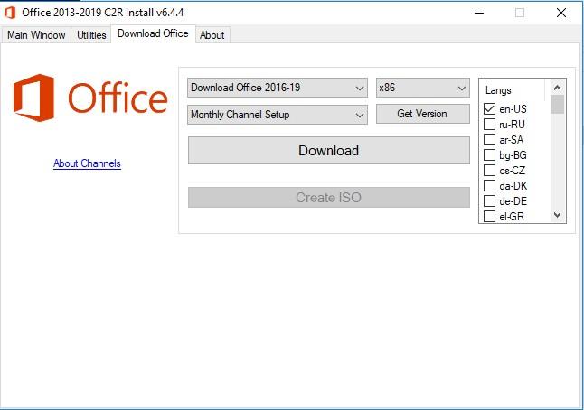 PHtechtools: Office 2013-2019 C2R Install – 2013~2016 Downloader and